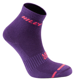 Hilly W Lite Socklet - Wildberry Pink