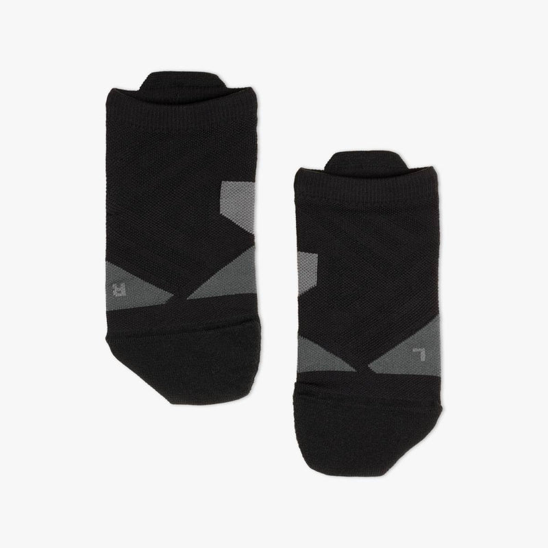 On W Low Sock - Black/Shadow