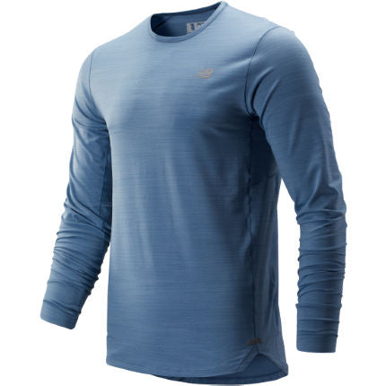New Balance M Seasonless Long Sleeve - Blue