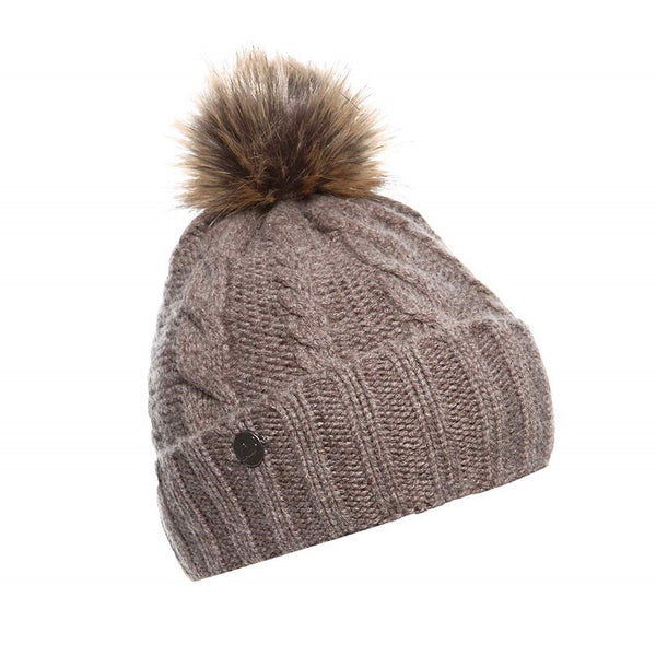 New Balance Knit Pom Beanie - Brown