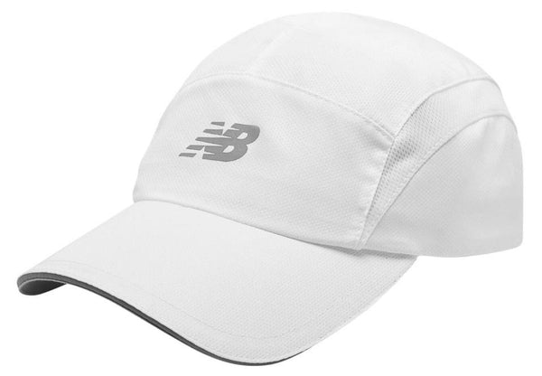 New Balance 5 Panel Performance Hat - White