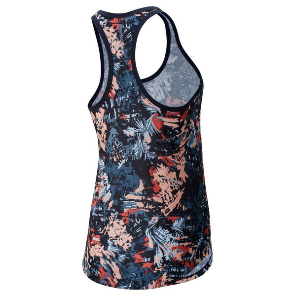 New Balance W Print Accelerate Tank - Ginger Pink