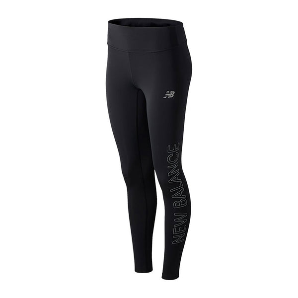 New Balance W Reflective Accelerate Tight - Black Print