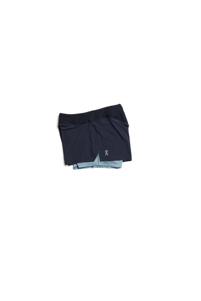 On Womens Running Shorts - Black/Sea