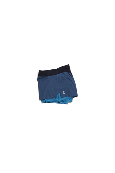 On Womens Running Shorts - Navy/Storm