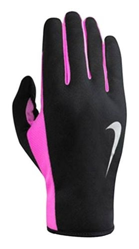 Nike Womens Rally Run Gloves 2.0 - Blk/Pink/Silv