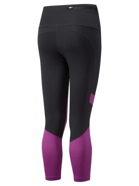 RonHill W Stride Revive Crop Tight - Black/ Grape Juice