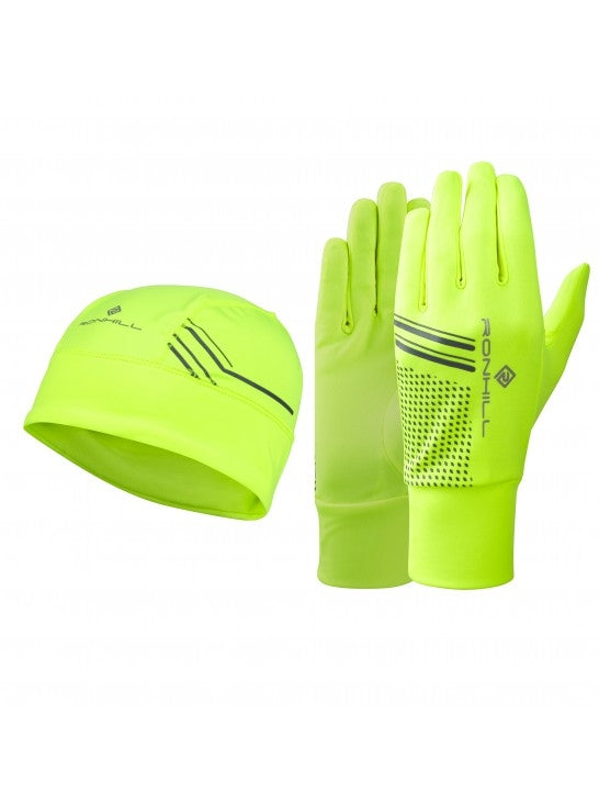RonHill Beanie and Glove Set - Yellow/black