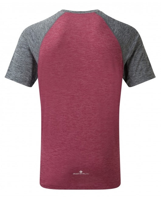 RonHill M Momentum Short Sleeve Tee - Mulberry Grey