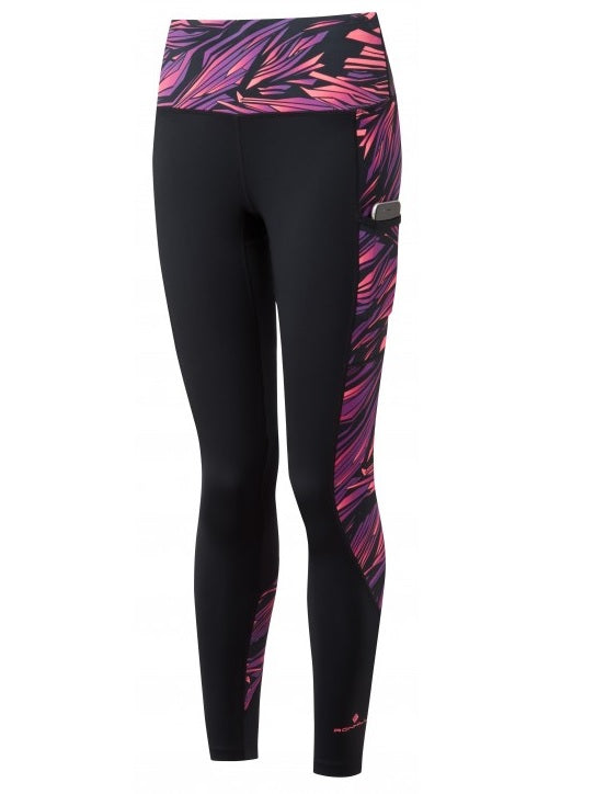 RonHill W Momentum Sculpt Tight - Black/ Grape Juice Blast