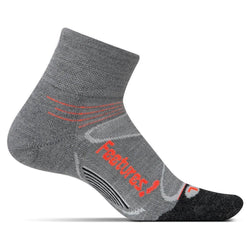 Feetures Elite Merino Cushion Quarter - Grey/Lava