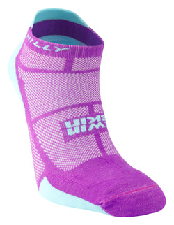 Hilly W Twin Skin Socklet - Purple Aqua