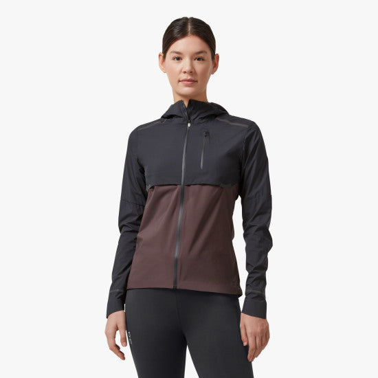 ON W Weather Jacket - Black/ Pebble