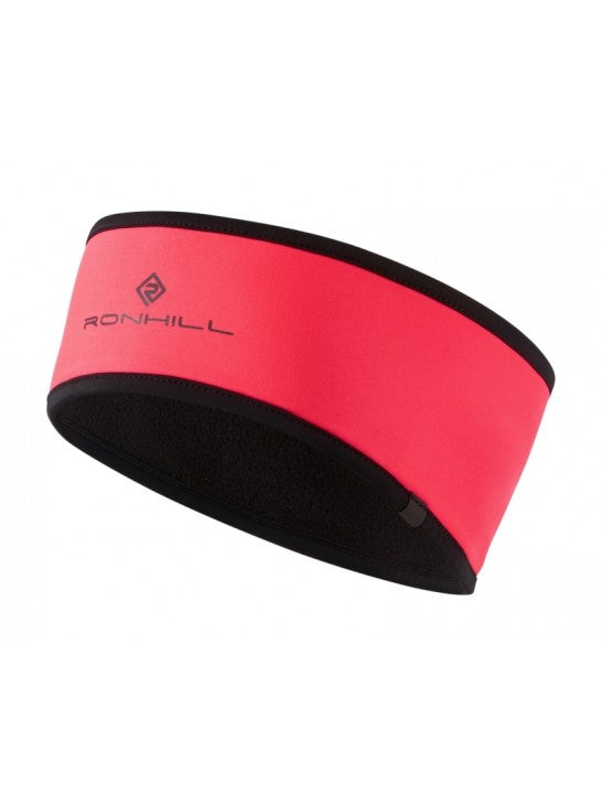 Ronhill Wind-Block Headband - Hot Pink/Black
