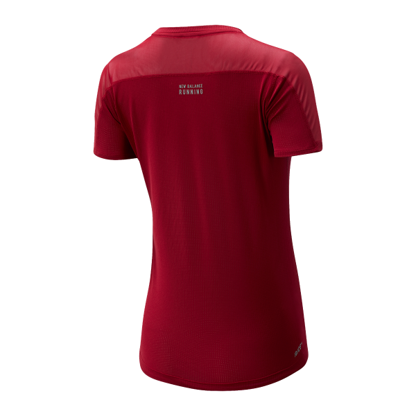 New Balance W Impact Run SS Tee - Neo Crimson