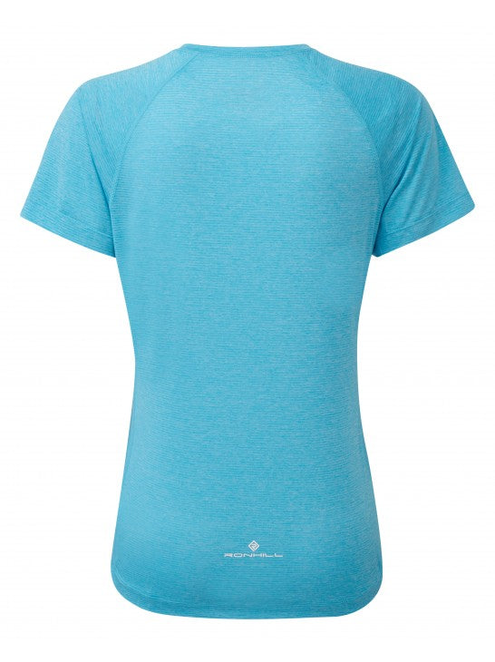RonHill W Stride S/S Tee - Sky Blue Marl