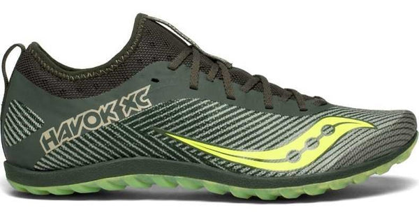 Saucony Mens Havok XC - Green/Citron