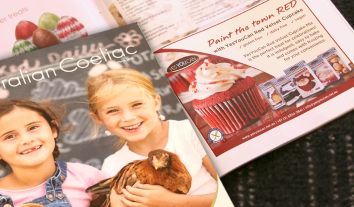 YesYouCan is in Coeliac Australia Magazine - March 2020