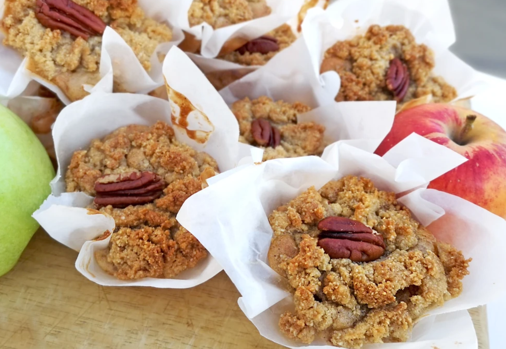 Gluten Free Apple & Cinnamon Muffin with Crumble Topping Recipe