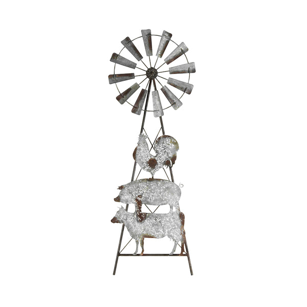 Farmyard Windmill Wall Art