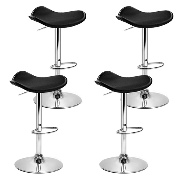 set of 4 Kitchen Bar Stools-Swivel-PU Faux Leather-Gas Lift-FREE SHIPPING