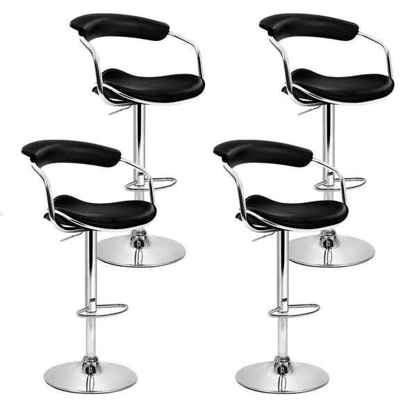 Srt of 4 PU Faux Leather Bar Stools-Swivel-Gas Lift-FREE SHIPPING