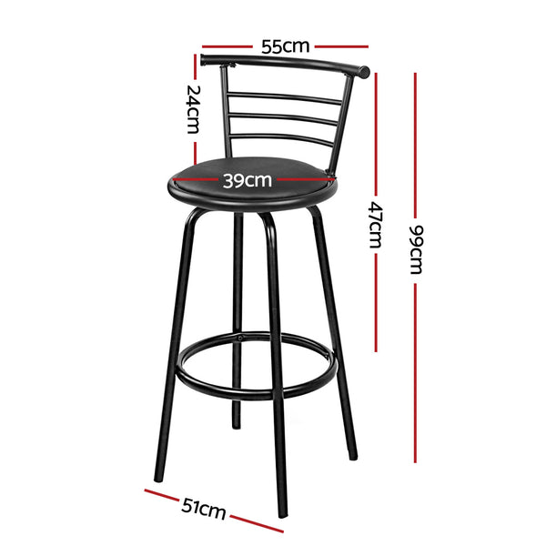 Set of 4 Bar Stools-PU Faux Leather Bar Stool-Swivel-FREE SHIPPING