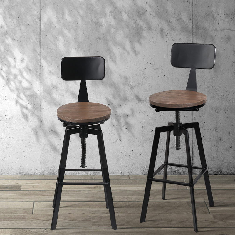 Rustic Industrial Swivel Metal Bar Stool-FREE SHIPPING