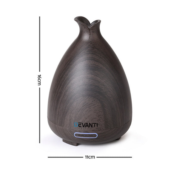 Aroma Diffuser-Air Humidifier-Dark Wood Grain-120ml-FREE SHIPPING