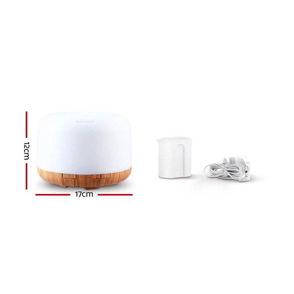 Aroma Diffuser-Aromatherapy LED Night-Air Humidifier Purifier-Light Wood Grain-500ml-FREE SHIPPING