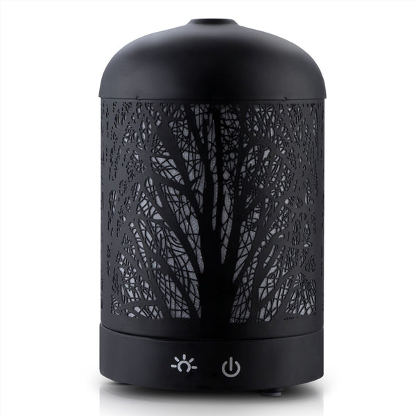 Aroma Diffuser-Aromatherapy LED Night Light-Air Humidifier-Black Forrest Pattern-100ml-FREE SHIPPING