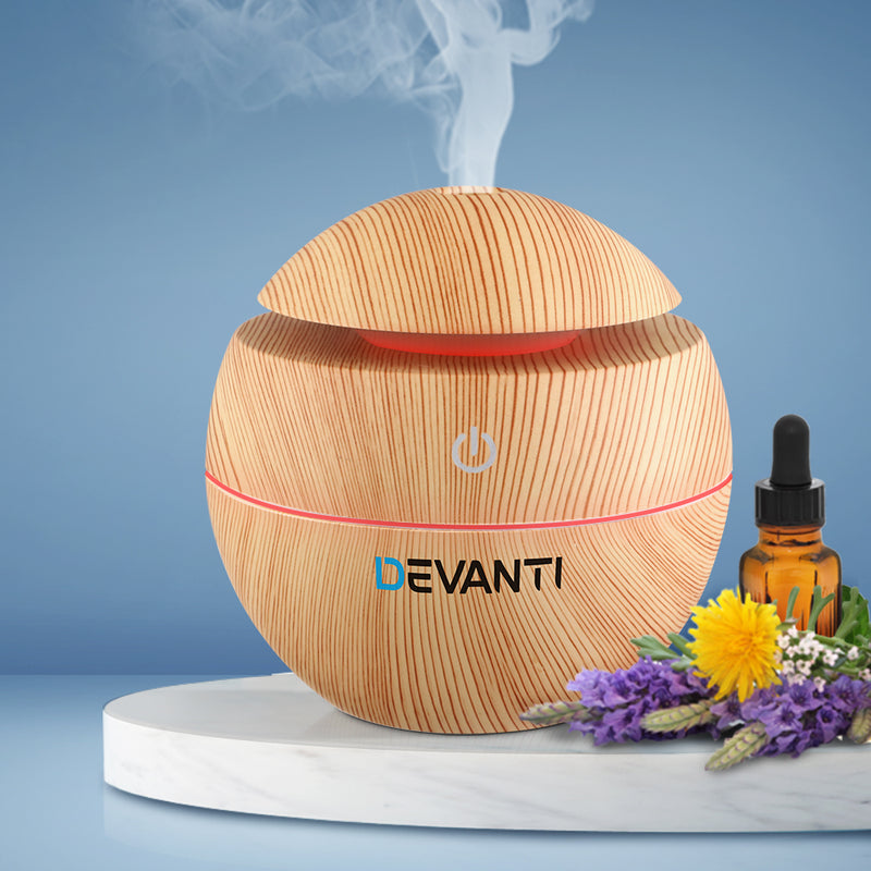 130ml Aromatherapy Diffuser, Essential Oils Air Humidifier with LED Light-FREE SHIPPING
