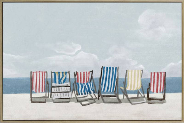 Beach Chair Canvas Print 120cm x 80cm
