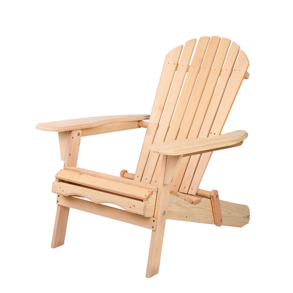 Gardeon Outdoor Chairs Furniture Beach Chair Lounge Wooden Adirondack Garden Patio