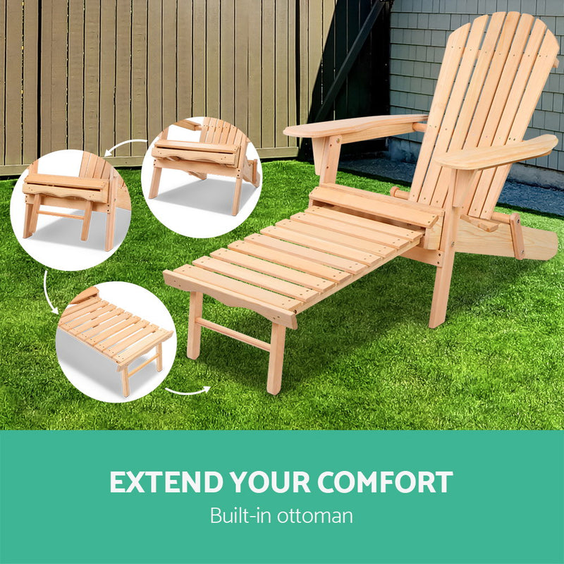 Timber Outdoor Sun Lounger-FREE SHIPPING