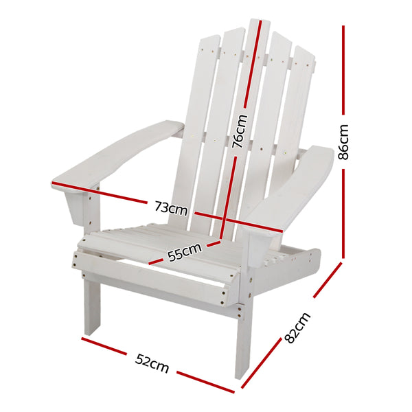 Outdoor Sun Lounger Beach Chair-White-FREE SHIPPING
