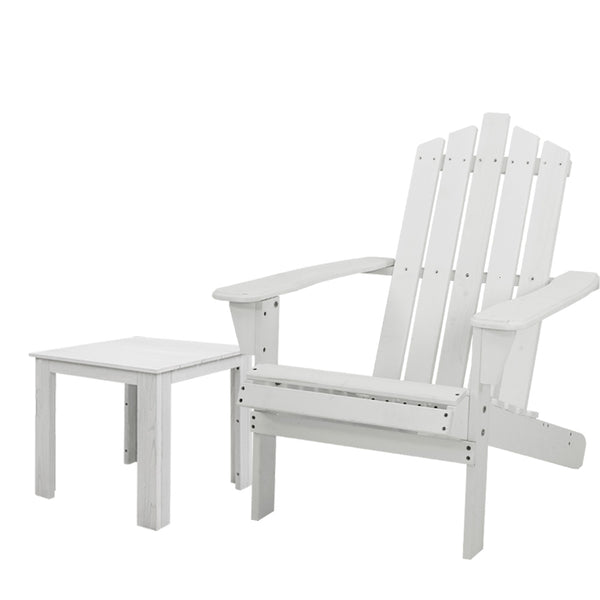 Gardeon Outdoor Sun Lounge Beach Chairs Table Setting Wooden Adirondack Patio Chair Lounges