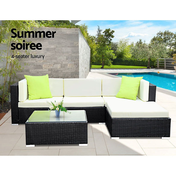 5 Piece Outdoor Wicker Sofa Set-FREE SHIPPING