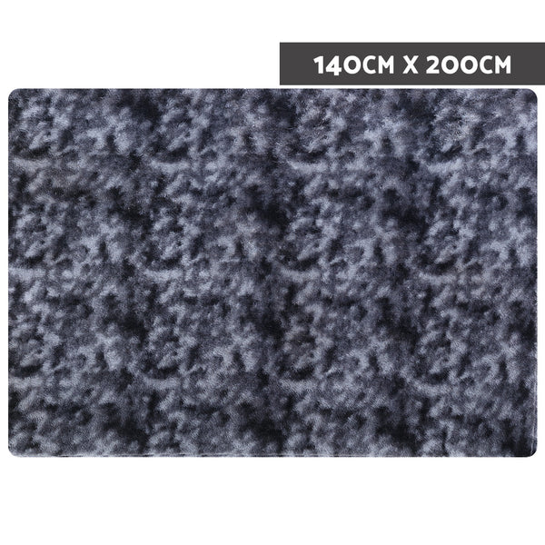 140cm x 200cm Gradient Floor Rug-Dark Grey-FREE SHIPPING