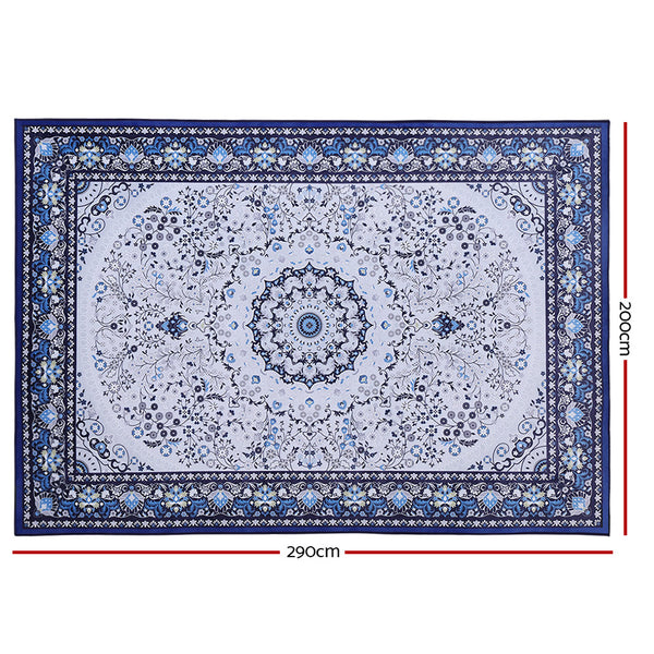200cm x 290cm Floor Rug-Modern Carpet-Soft Blue-FREE SHIPPING