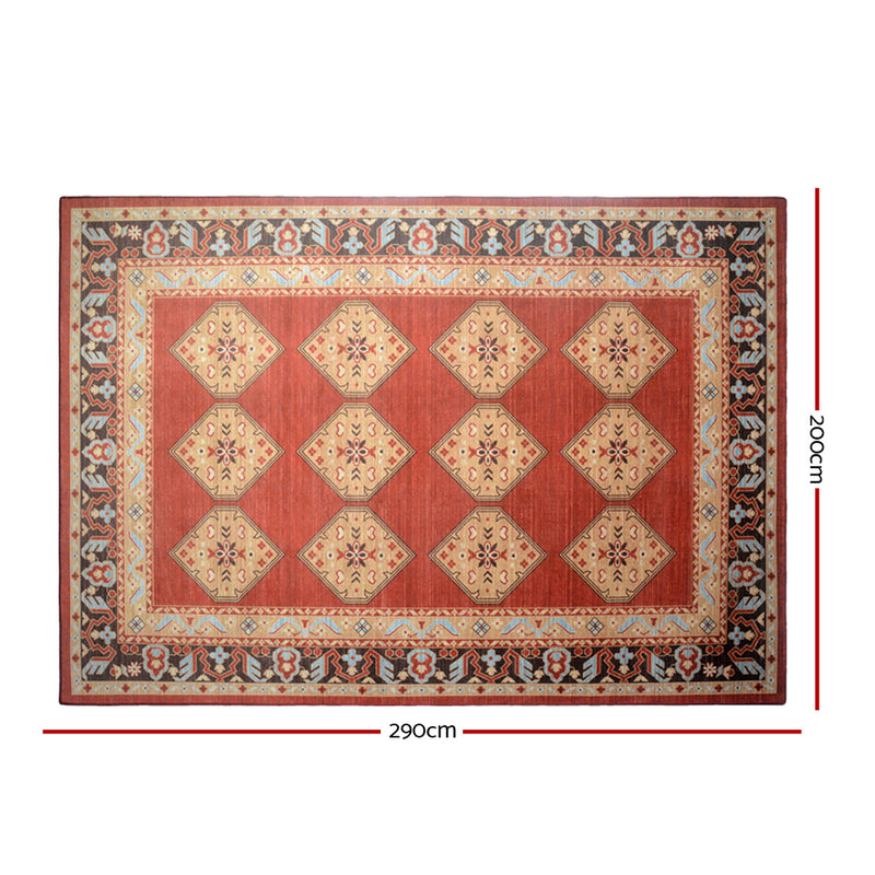 200cm x 290cm Floor Rug-Soft Red-FREE SHIPPING