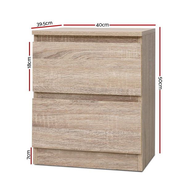 2 Drawer Bedside Table-FREE SHIPPING