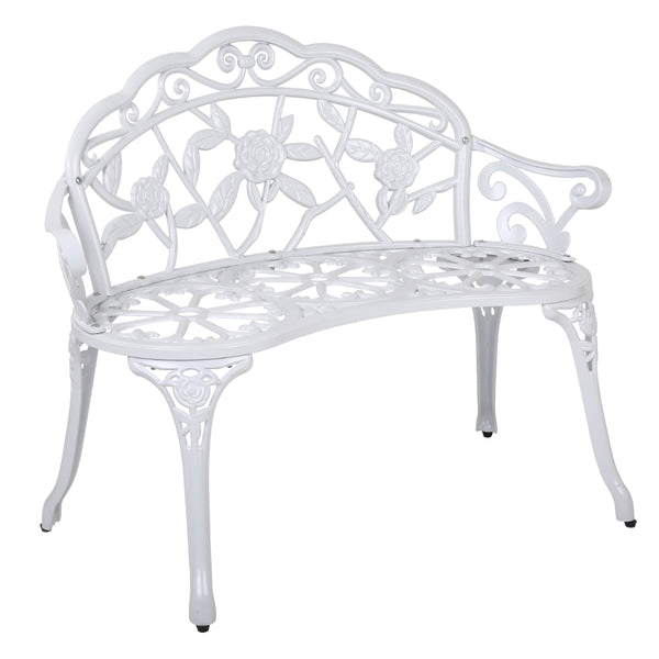 Gardeon Victorian Garden Bench – White