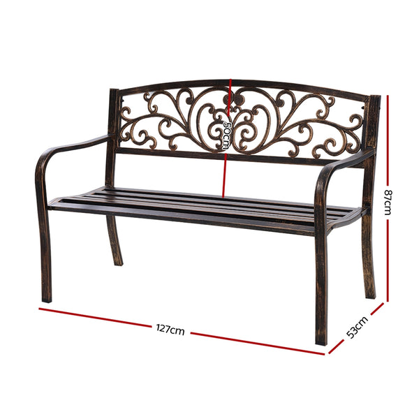 Cast Iron Garden Bench-Bronze Colour-FREE SHIPPING