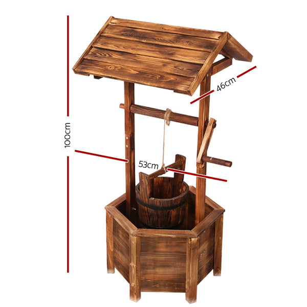Wooden Wishing Well-100cm-FREE SHIPPING