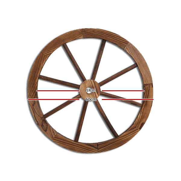 60cm Timber Wagon Wheel-FREE SHIPPING