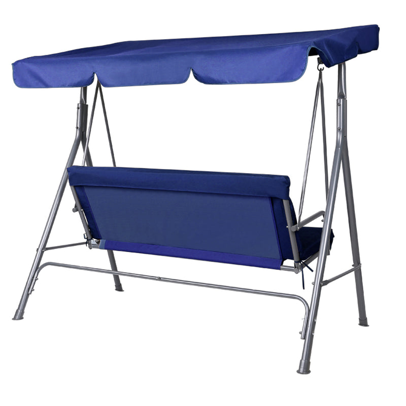 Swing Chair with Canopy-Navy-FREE SHIPPING