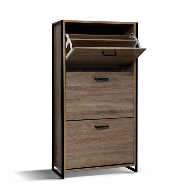 113cm Shoe Cabinet-Up to 24 Pairs-Metal Frame-FREE SHIPPING