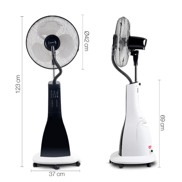 Portable Misting Fan with Remote Control-White-FREE SHIPPING