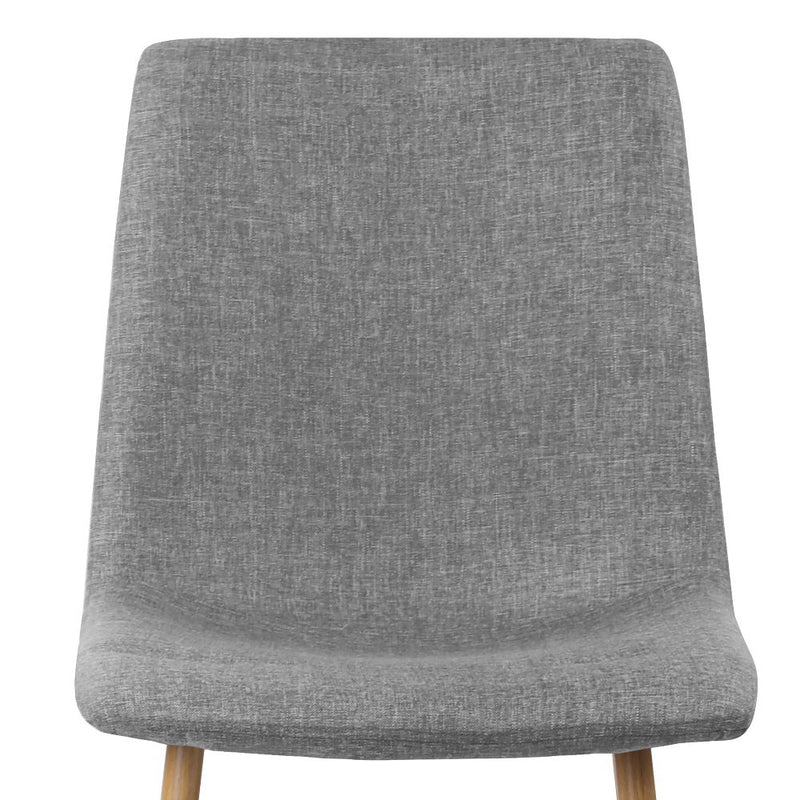 Set of 4 Collins Dining Chairs-Light Grey-FREE SHIPPING